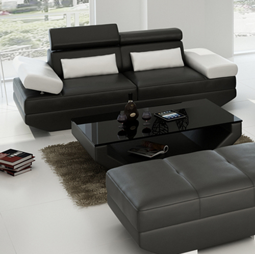 GORICA 2 SEATER SOFA   (MODEL - K5009E)  - CHOICE OF LEATHER AND ASSORTED COLOURS AVAILABLE