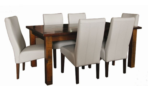 ASIDA  7 PIECE  DINING SETTING - 1500(L) X 900(W) - (MODEL - 2-21-3-3-15-12-9-3 7PC-5X3)-  RUSTIC