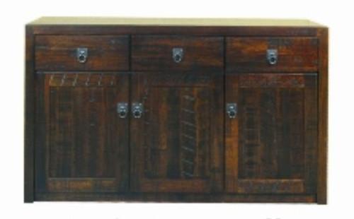 ASIDA  3 DOOR 3 DRAWER  BUFFET  (MODEL - 2-21-3-15-12-9-3-) -  900(H) X 1260(W)-  RUSTIC