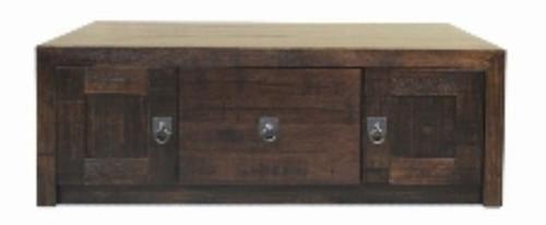 ASIDA  COFFEE TABLE  WITH 2 DOOR - (MODEL - 2-21-3-3-15-12-9-3) - 1200(W) X 750(D)  RUSTIC