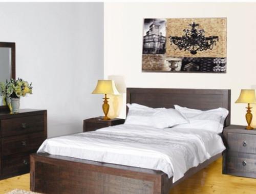 QUEEN ASIDA BED  ( MODEL - 2-21-3-3-15-12-9-3) - RUSTIC