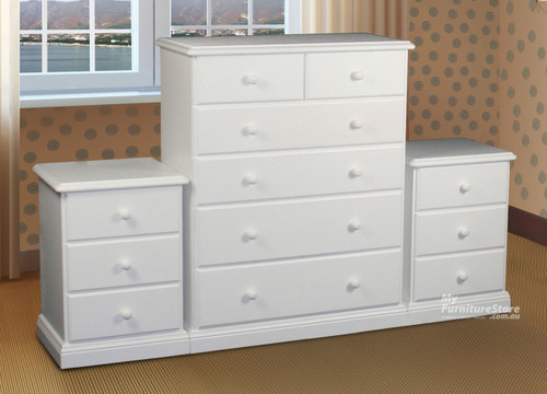 SIERRA (AUSSIE MADE) 3 PIECE CHEST SET(6+3+3) - ASSORTED PAINTED COLOURS