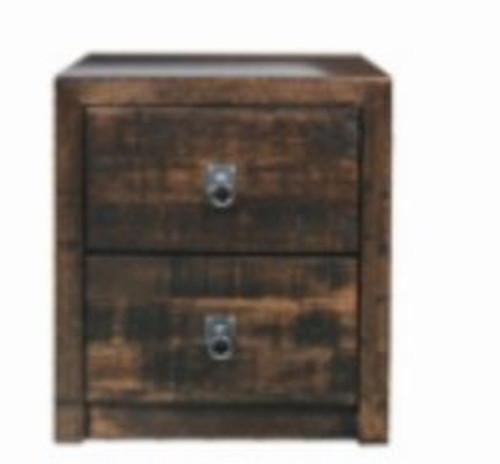 ASIDA 2 DRAWER BEDSIDE (MODEL - 2-21-3-15-12-9-3)  - RUSTIC