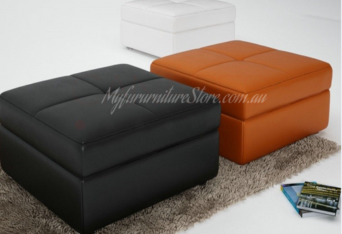 CADENZA  LEATHERETTE OTTOMMAN WITH STORAGE FUNCTION - 800(W) * 800(D)  - ASSORTED COLOURS