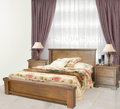 DONSILIA  QUEEN 3 PIECE  BEDSIDE BEDROOM SUITE  ( MODEL- 11-1-11-1-4-21 ) - RUSTIC