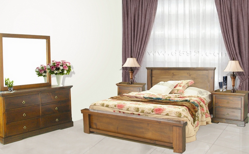 DONSILIA  QUEEN 5 PIECE DRESSER BEDROOM SUITE  ( MODEL- 11-1-11-1-4-21 ) - RUSTIC