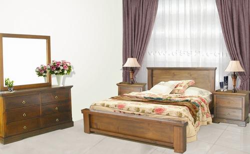 DONSILIA  QUEEN 5 PIECE DRESSER BEDROOM SUITE  ( MODEL- 11-1-11-1-4-21 ) - RUSTIC