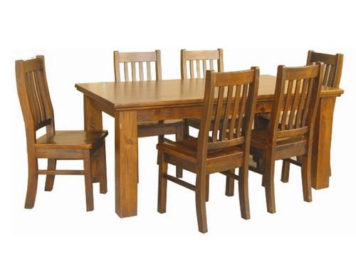 DONSILIA 9 PIECE DINING SETTING (5x5) - 1500(W) X 1500(D) - ( MODEL- 11-1-11-1-4-21 ) - RUSTIC