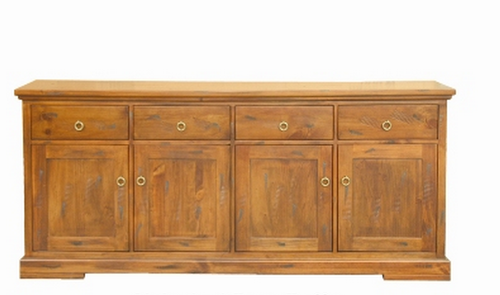 DONSILIA  4 DOOR 4 DRAWER BUFFET - 895(H) X 2020(W) - ( MODEL- 11-1-11-1-4-21 )  - RUSTIC