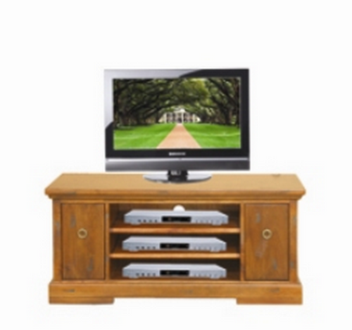 DONSILIA 2 DOOR  LOWLINE TV  ENTERTAINMENT UNIT  - ( MODEL- 11-1-11-1-4-21 )  - 565(H) X 1200(W)  - RUSTIC