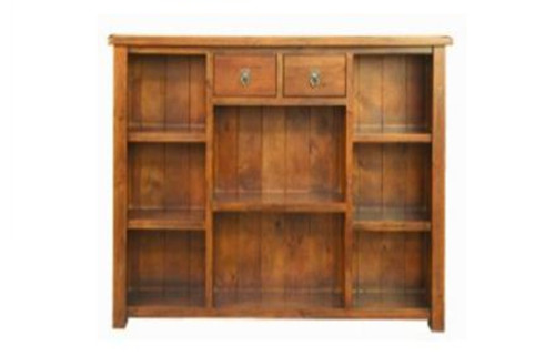 ALANZO 1800  BOOKCASE WITH DRAWER - 1500(H) * 1255(W)  - (  MODEL -11-1-13-2-5-18-12-25)   - RUSTIC