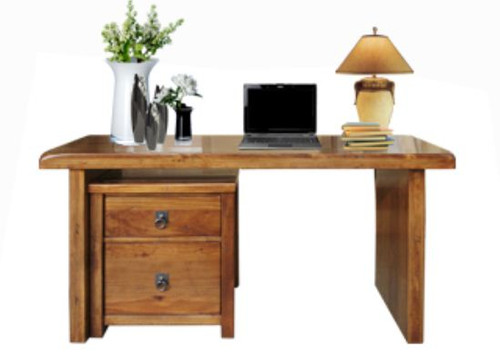 ALANZO PROMO DESK (EXCLUDING FILING CABINET) - 1500(W) - (MODEL:11-1-13-2-5-18-12-25) - 1500(W) X 600(D) - RUSTIC