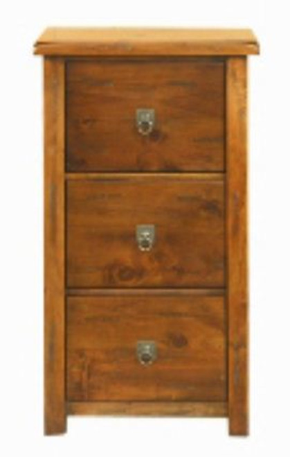 ALANZO 3 DRAWER FILING CABINET - (MODEL:11-1-13-2-5-18-12-25) - RUSTIC