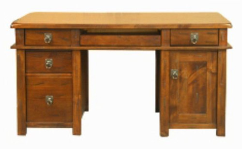 ALANZO  DESK - 1500(W)  -  ( MODEL -11-1-13-2-5-18-12-25) - 1500(W) X 760(D) - RUSTIC