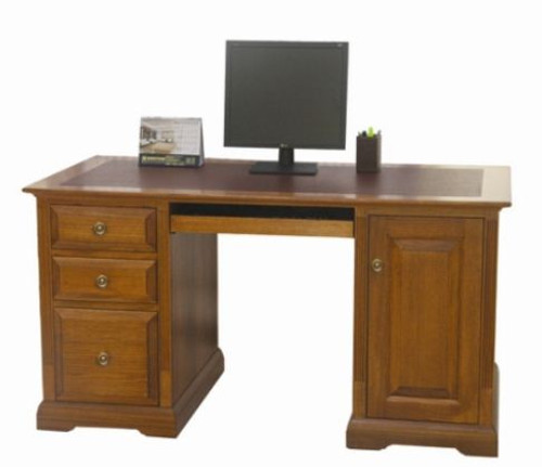 CHURACHS  DESK    -  ( MODEL -1-19-8-20-15-14) - 1800(W) X 750(D) - AVAILABLE IN COTTAGE TEAK  OR  ALMOND