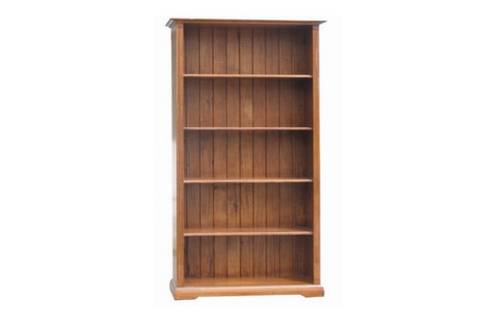 CHURACHS 7 x 3  BOOKCASE - 2100(H) * 900(W)  -  ( MODEL -1-19-8-20-15-14) - AVAILABLE IN COTTAGE TEAK  OR  ALMOND