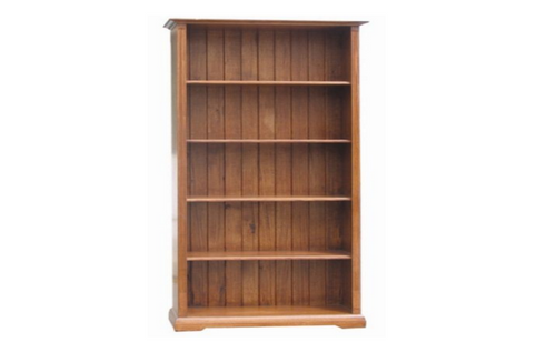 CHURACHS 6 x 3  BOOKCASE - 1800(H) * 900(W)  -  ( MODEL -1-19-8-20-15-14) - AVAILABLE IN COTTAGE TEAK  OR  ALMOND