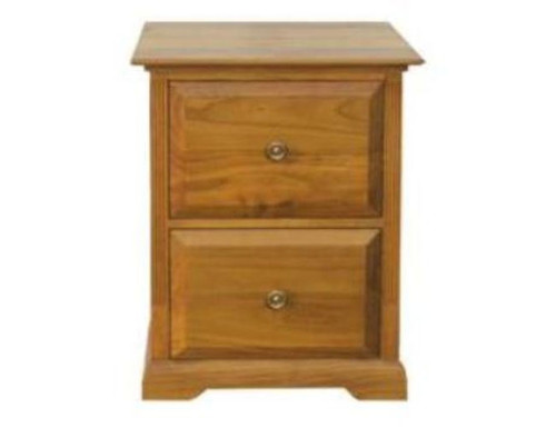 BOUYLIN 2 DRAWER FILING   -  ( MODEL -8-5-18-9-20-1-7-5) - AVAILABLE IN CHESTNUT OR WALNUT
