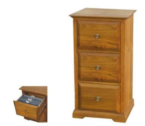 BOUYLIN   3 DRAWER FILING   -  ( MODEL -8-5-18-9-20-1-7-5) - AVAILABLE IN CHESTNUT OR WALNUT