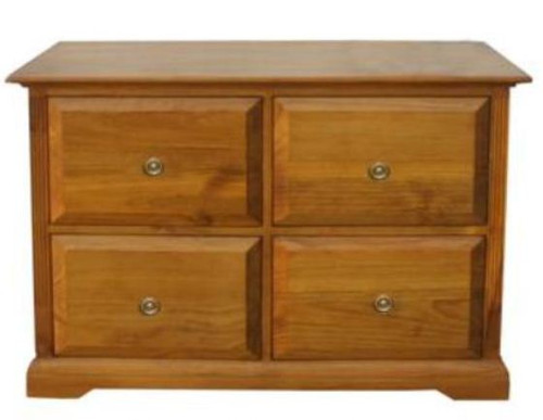 BOUYLIN   4 DRAWER FILING   -  ( MODEL -8-5-18-9-20-1-7-5) - AVAILABLE IN CHESTNUT OR WALNUT