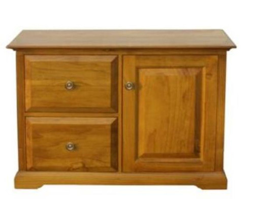 BOUYLIN   2 DRAWER  & STORAGE FILING   -  ( MODEL -8-5-18-9-20-1-7-5) - AVAILABLE IN CHESTNUT OR WALNUT