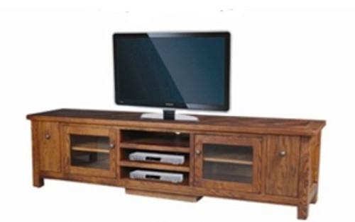 DUOLYN  AMERICAN OAK    LOWLINE TV  DVD ENTERTAINMENT UNIT - (MODEL16-1-18-1-13-15-21-914-20) - 575(H) X 2200(W)- AS PICTURED