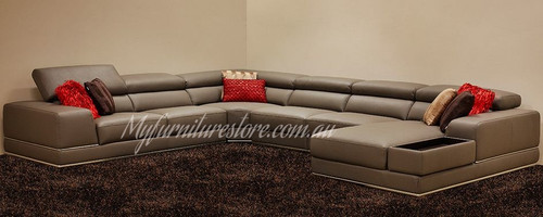 LANSWAY   BONDED FABRIC  5  SEATER   PLUS LHF / RHF CHAISE LOUNGE SUITE  1576B  ( MODEL - 19--5-1-20-20-12-5) - ASSORTED COLOURS