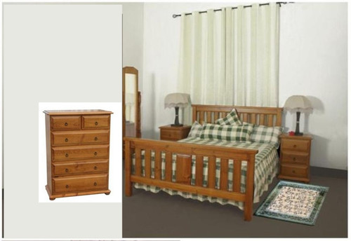 LUNAMIS SINGLE OR KING SINGLE 3 PIECE   BEDROOM SUITE  (MODEL 3-8-1-12-20-15-14) -  AVAILABLE IN CHESTNUT OR WALNUT