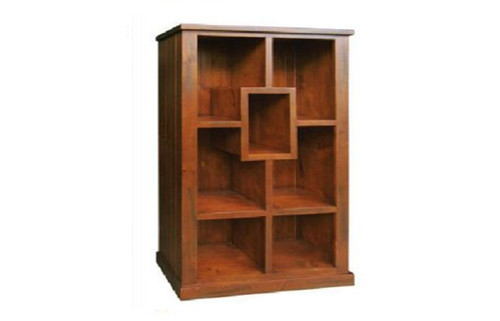 NEW YORK DECORATIVE BOOKSHELF  1900(H) * 1100(W) - AGED BLACKWOOD