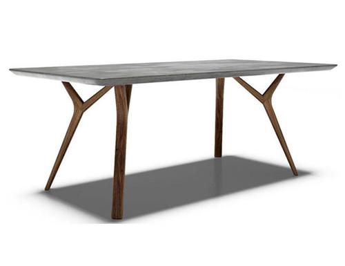 DANE CONSOLE TABLE  - 760(H) X 1400(W) X 400(D) - CEMENT WITH OAK