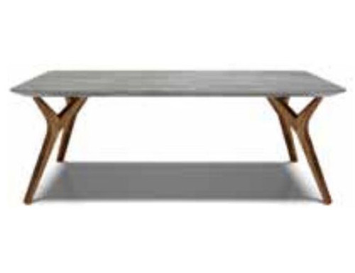 DANE 1200(W) x 600(D) COFFEE TABLE  -  CEMENT WITH OAK