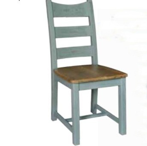 FRENCH  DINING CHAIR -  FRENCH GREY/ WEATHERED OAK
