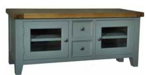 FRENCH   TV ENTERTAINMENT UNIT - 665(H) X 1500(W) - FRENCH GREY/ WEATHERED OAK
