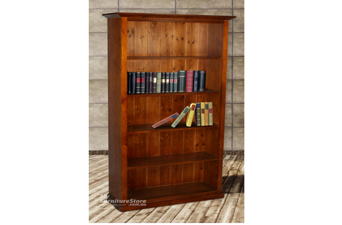MUDGEE / COLONIAL (6X4) BOOKCASE WITH 42MM FACINGS WITH T&G BACKING - 1800(H) x 1200(W) - ASSORTED COLOURS