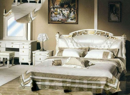 KING   WENDROSE  LEATHER  BED (MODEL-2871)  - ASSORTED COLOURS
