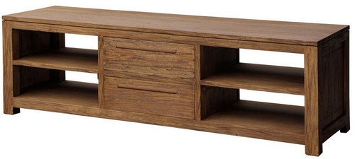VENICE  2 MIDDLE  DRAWER ENTERTAIMENT UNIT  (SB-042-VEN) -500(H) x 1600(W)- NATURAL TEAK