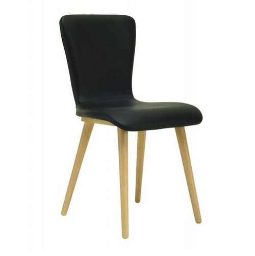 VALLEY SCANDINAVIAN LEATHERETTE DINING CHAIR (SET OF 2) -  ESPRESSO