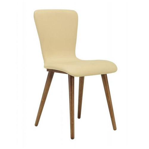 VALLEY SCANDINAVIAN LEATHERETTE DINING CHAIR (SET OF 2)-  CREAM