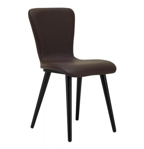 VALLEY LEATHERETTE DINING CHAIR (SET OF 2) -  MOCHA