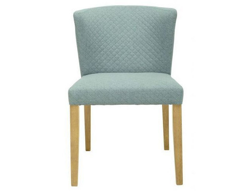 RHODA FABRIC   DINING CHAIR  - AQUAMARINE