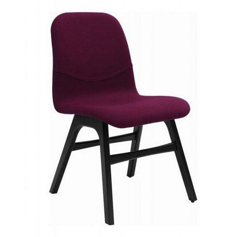 AVA FABRIC DINING CHAIR (SET OF 2) -  RUBY
