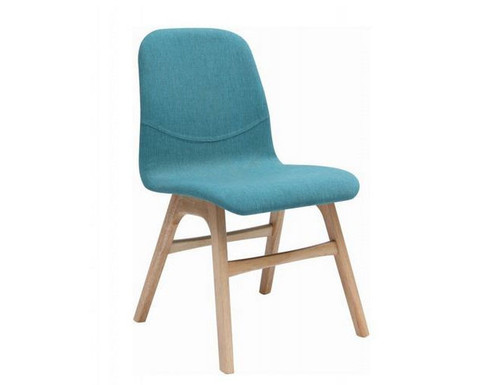 AVA  FABRIC   DINING CHAIR  -  EMERALD