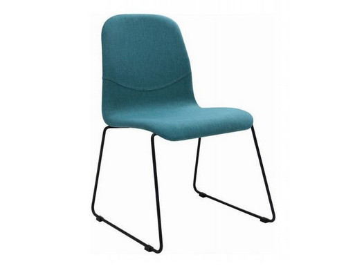 AVA  FABRIC   DINING CHAIR (SET OF 2)  -  EMERALD