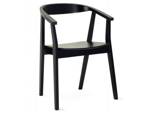 GRETA MODERN DINING CHAIR (SET OF 2) - EBONY