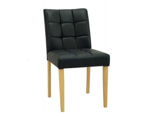DAVIN LEATHERETTE MODERN DINING CHAIR - ESPRESSO