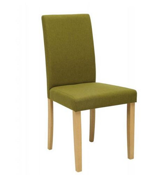 LENORE  MODERN FABRIC DINING CHAIR (SET OF 2) - OLIVE