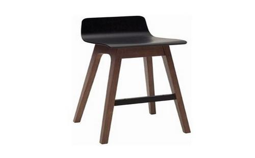 AVA  MODERN BAR STOOL - SEAT: 890(H) - BLACK / WALNUT