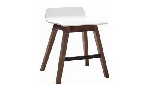 AVA  MODERN BAR STOOL - SEAT: 890(H) - WHITE / WALNUT