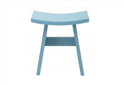 HAMO WOODEN STOOL - SEAT: 440(H)  - DUST BLUE