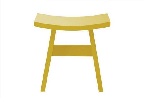 HAMO WOODEN STOOL - SEAT: 440(H) - OLIVE YELLOW